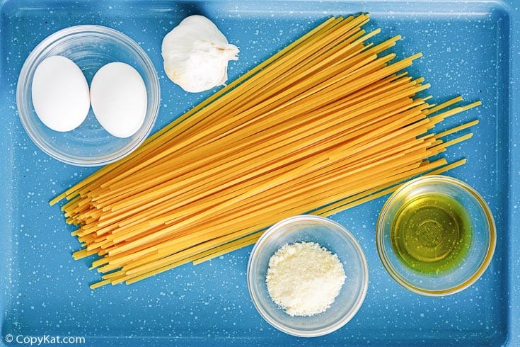 Pasta with egg ingredients