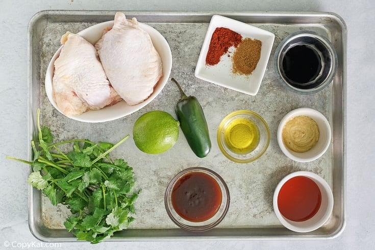 Peruvian chicken ingredients