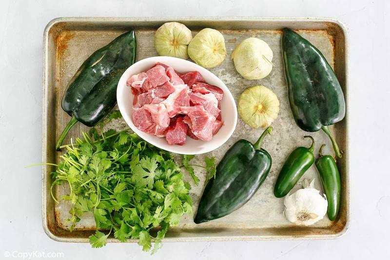 ingredientes de chile verde