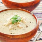 two bowls of crab bisque