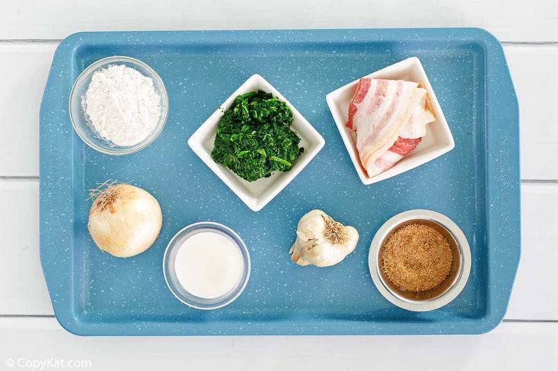 Lawry's Creamed Spinach ingredients