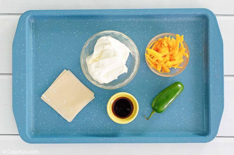 ingredientes de wonton jalapeño poppers