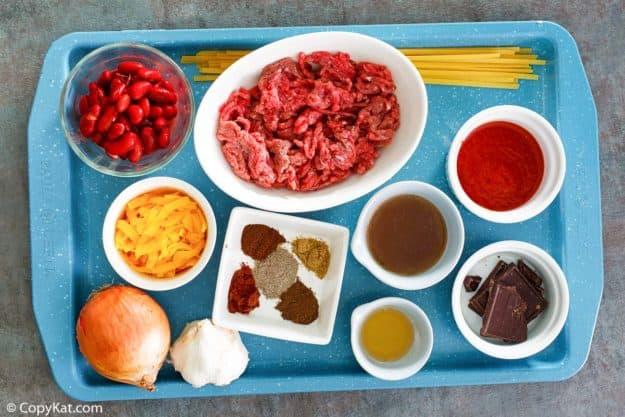 Cincinnati chili ingredients