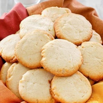 cream cheese cookies in a basket