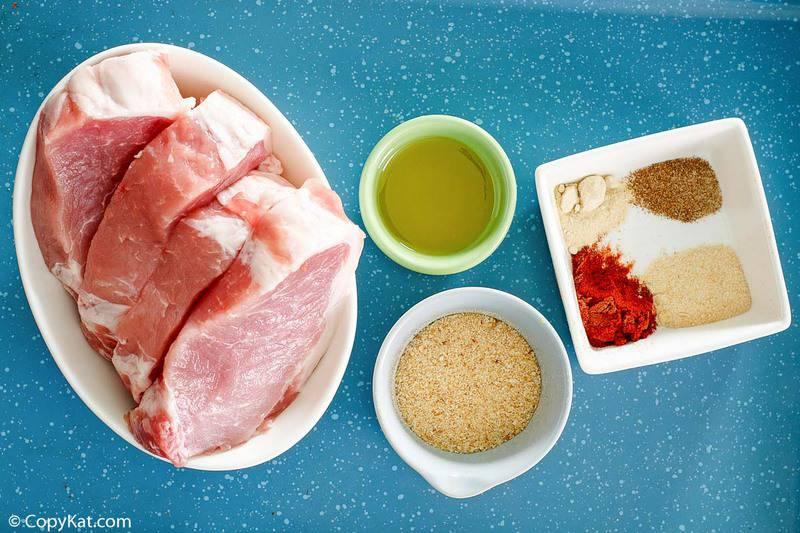 Homemade Shake and Bake Pork Chops ingredients