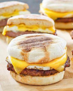 homemade McDonald's Sausage Egg McMuffins