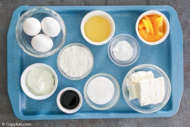 Olive Garden Peaches and Cream Cheesecake ingredients