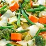 homemade Panda Express mixed vegetables on a platter