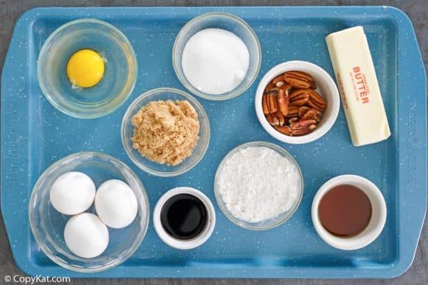 pecan pie bars ingredients