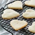 cake mix cookies on a round cooling rack