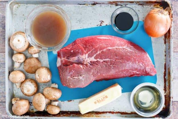Cracker Barrel Mushroom Pot Roast ingredients