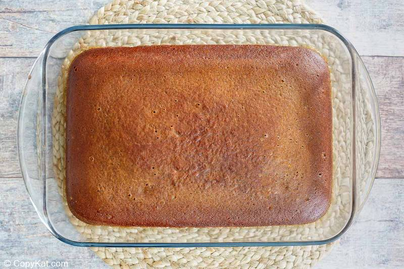 gingerbread cake in a baking pan