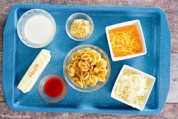 Instant Pot Macaroni and Cheese ingredients