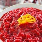 a bowl of homemade fresh cranberry orange relish