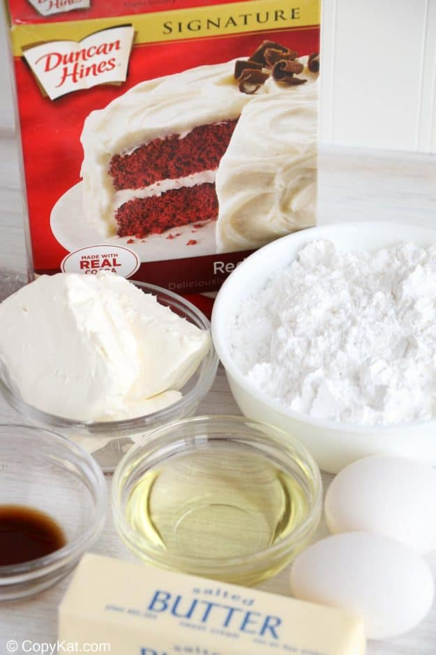 red velvet brownies with cream cheese frosting ingredients