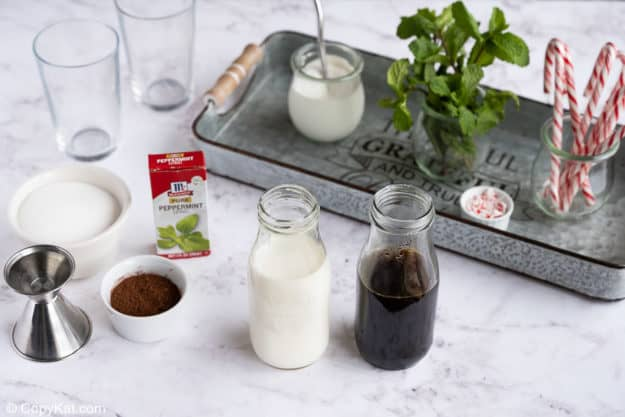 Starbucks peppermint mocha ingredients