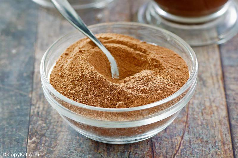 a bowl of homemade Swiss Miss hot cocoa mix