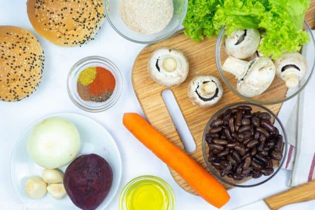 vegan burger ingredients