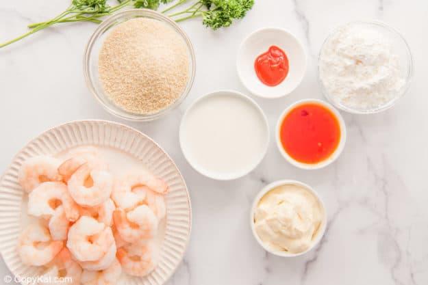 air fryer bang bang shrimp and sauce ingredients