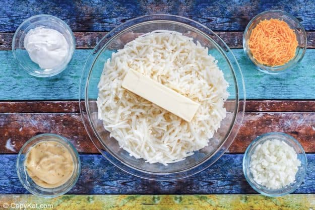 Cracker Barrel hashbrown casserole ingredients