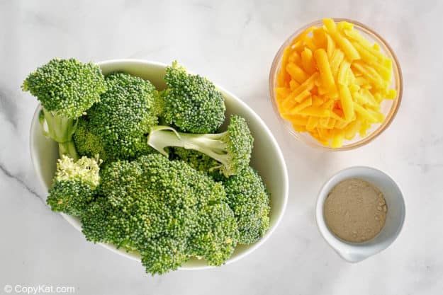 ingredients for keto oven roasted broccoli and cheese