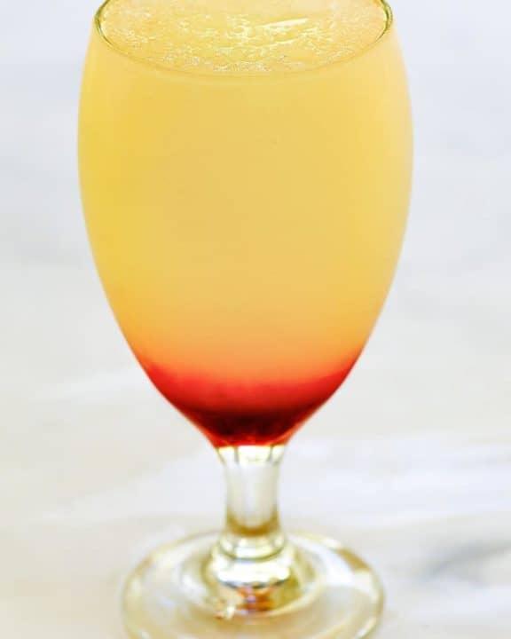 homemade McDonald's Frozen Strawberry Lemonade in a glass