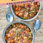 steak soup made with ground beef