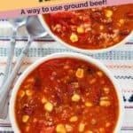 a bowl taco soup