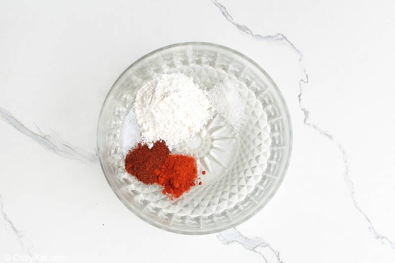 spices for spicy chicken wings in a bowl