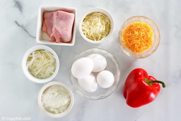Starbucks Ham Cheddar and Peppers Sous Vide Egg Bites ingredients