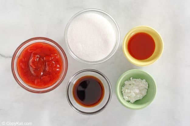 Ingredientes de la salsa agridulce del Palacio Imperial Chino