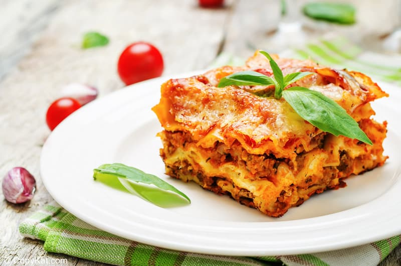 homemade lasagna on a plate