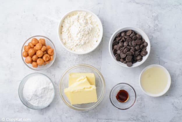 ingredients for homemade Twix Bars