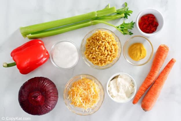 homemade macaroni salad ingredients