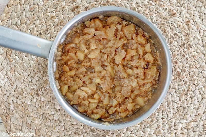 homemade McDonald's apple pie filling