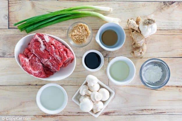 Pei Wei Mongolian Beef ingredients