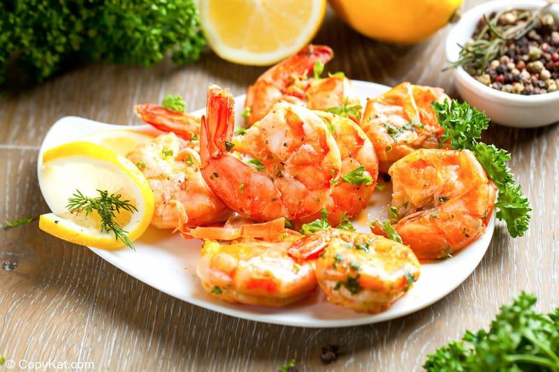 homemade Shrimp Wagon shrimp scampi on a plate