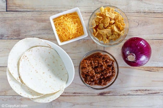 Sonic Fritos chili cheese wrap ingredients