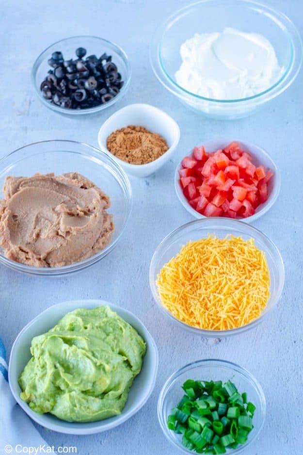 7 layer dip ingredients