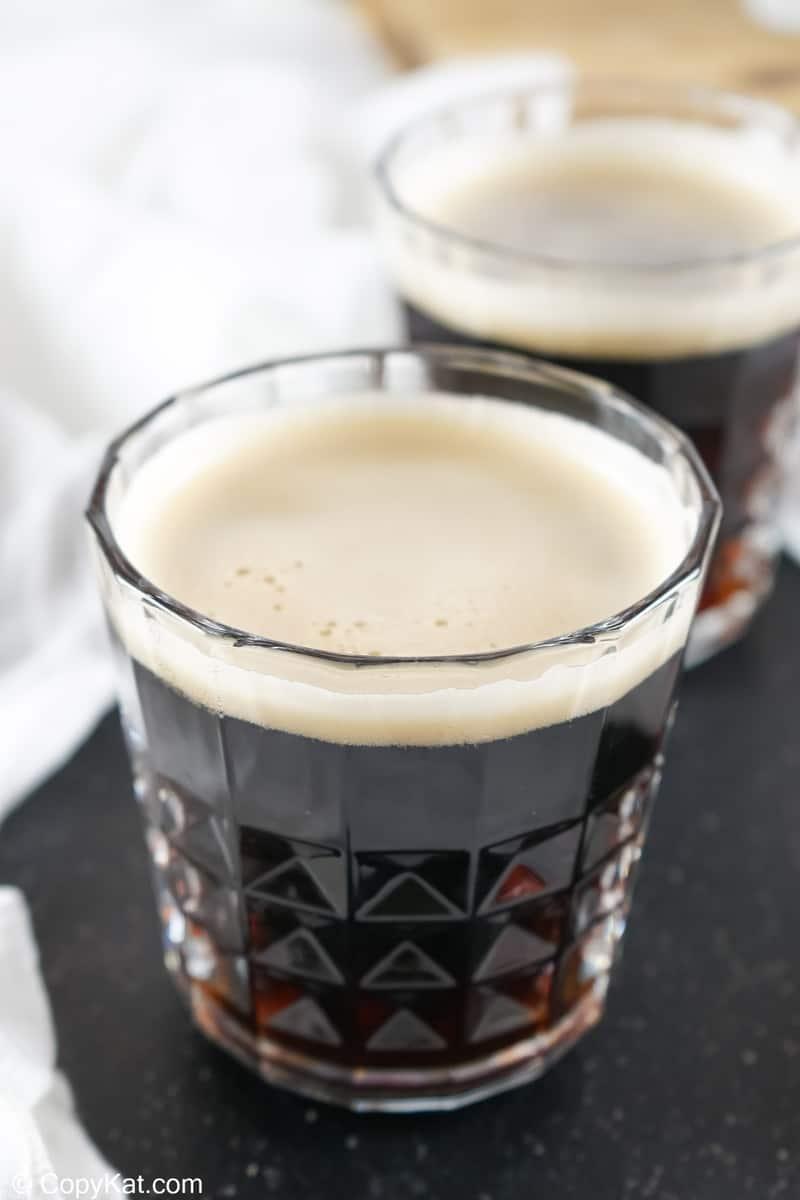 two black velvet cocktails