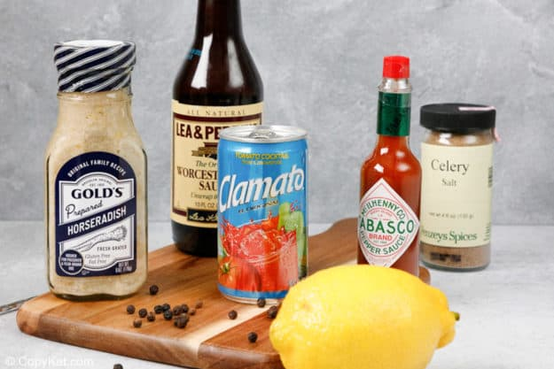 ingredientes de la mezcla de bloody mary
