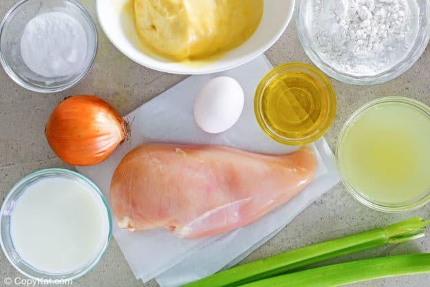 Ingredientes de la cazuela de pollo Cracker Barrel