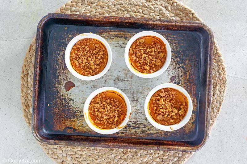 Natillas caseras de calabaza Cracker Barrel antes de hornear