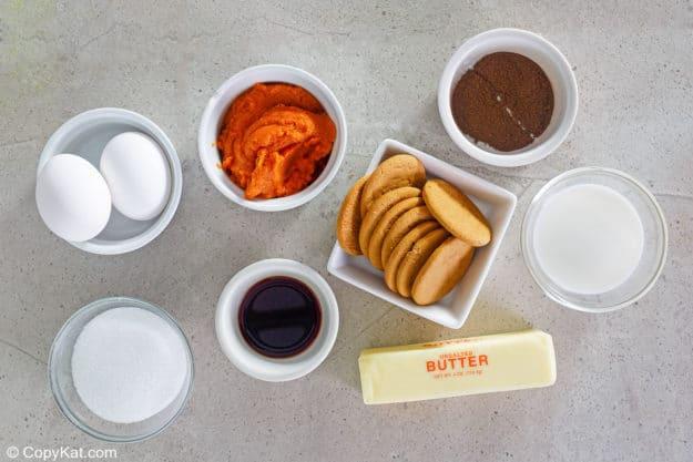 Ingredientes de Cracker Barrel Pumpkin Custard