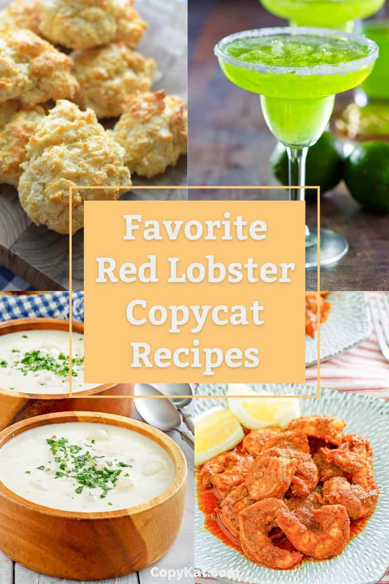 collage of four popular Red Lobster copycat recipes