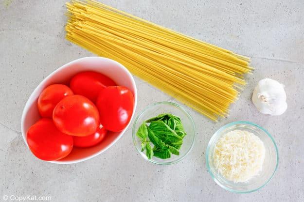 Olive Garden Capellini Pomodoro ingredients