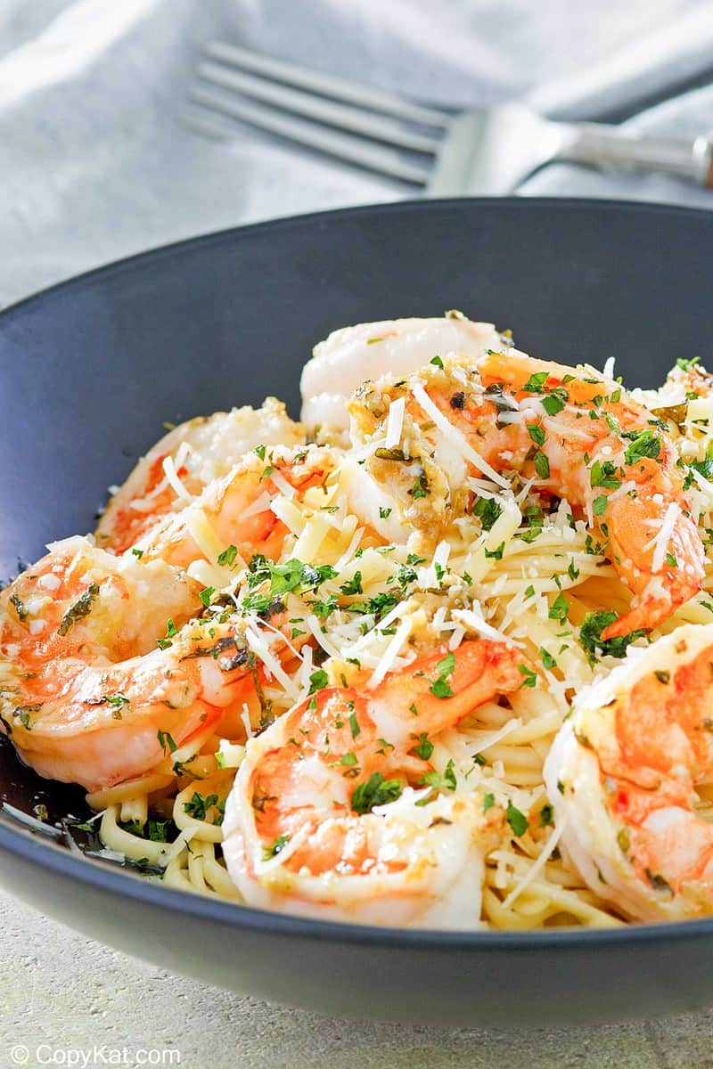 homemade Olive Garden Shrimp Christopher in a bowl