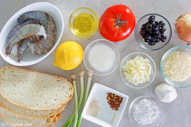 Ingredientes de Olive Garden Sicilian Scampi