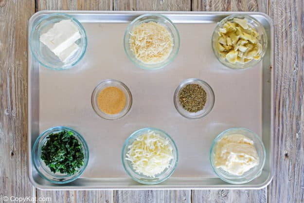 Olive Garden Spinach Artichoke Dip ingredients