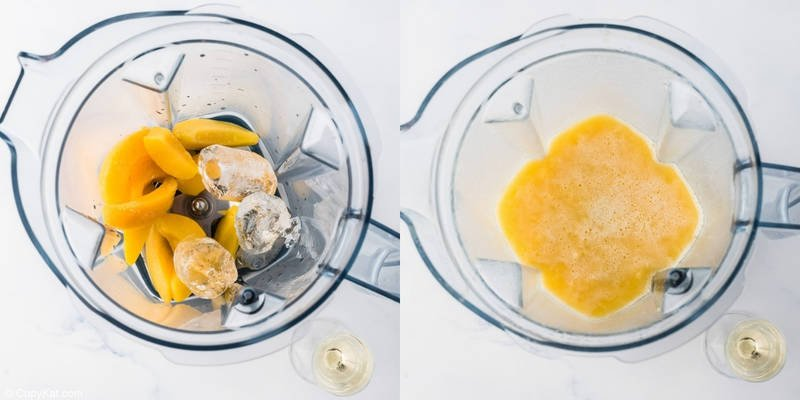 ingredients for Outback Wallaby Darned in a blender before and after blending